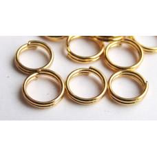 Колечко для бус соединительное двойное, золотистого цвета (987768)