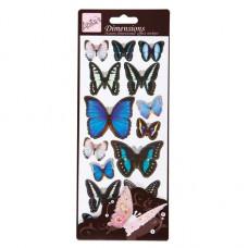 Наклейки 3Д Голубые бабочки (DL-ANT-816123)