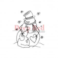 Штамп Snowman W/Dog (3X400126)