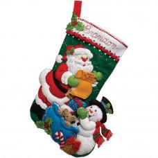 Рождественский сапожок фетровый Santas List (86360)