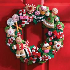 Венок из фетра Cookies & Candy Wreath (86264)