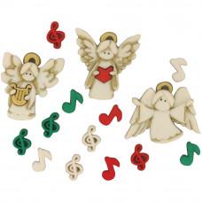 Набор пуговиц-украшений A Choir Of Angels (DIUHLDAY 7495)