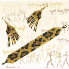 Браслет и серьги Леопард (Б-077)