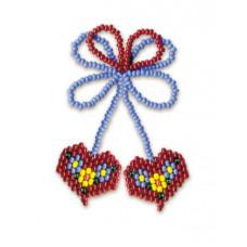 Набор для бисероплетения Риолис Два сердечка (Б-031)