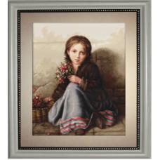 Девочка с цветами (G513)