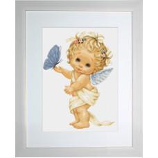 Ангелочек с бабочкой (G368)