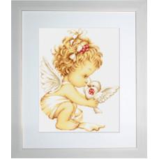 Ангелочек с голубями (G369)