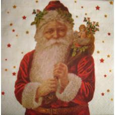 Салфетка Дед Мороз с мешком подарков (1443)