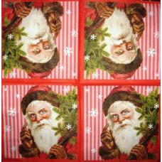 Салфетка Дед Мороз с елкой (1552)