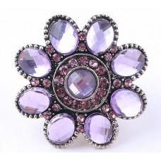 Кольцо Аметистовый цветок