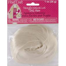 Волосы для кукол, белые прямые (3399F)