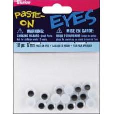 Глазки для игрушек, чёрные, 8 мм (ME8/PP)