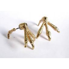 Серьги-гвоздики из двух частей Золотые следы