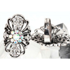 Кольцо Алмазные цветы
