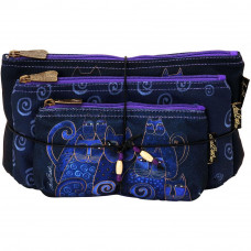 Набор сумок-косметичек Laurel Burch Cosmetic Bag Set Of Three, Indigo Cats (LB5332)