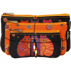 Набор сумок-косметичек Laurel Burch Cosmetic Bag Set Of Three, Feline Friends (LB5334)