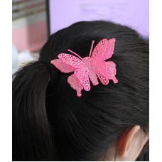 Заколка Розовая бабочка