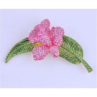 Брошь Розовая орхидея