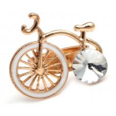 Кольцо Белый старинный велосипед