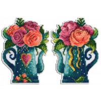 Набор для вышивания крестом М.П.Cтудия Цветы любви (Р-575)