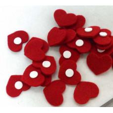 Сердечко фетровое красное на липучке
