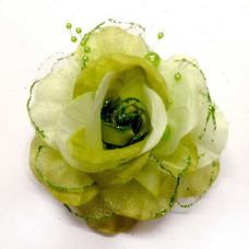 Заколка для волос Зеленый цветок