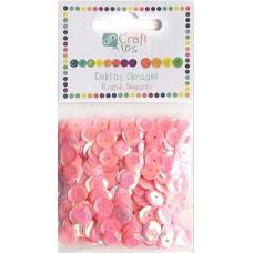 Пайетки круглые розовые Dalprint Plus, 10 гр (KSCE-007)