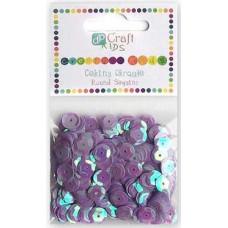 Пайетки круглые фиолетовые Dalprint Plus, 10 гр (KSCE-009)