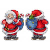 Набор для вышивания крестом М.П.Cтудия Веселый Санта (Р-584)