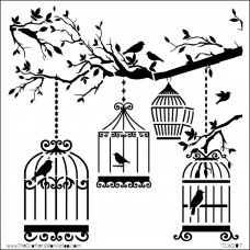 Маска-трафарет для скрапбукинга, Birds Of A Feather (TCW6X6 207)