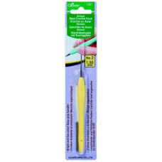 Стальной крючок для вязания с мягкой ручкой Amour 1.50 cм (1221)