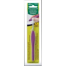 Алюминиевый крючок для вязания с мягкой ручкой Amour, 4,0мм (1045/G)