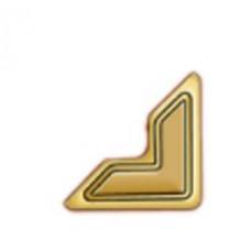 Уголки для фото самоклеющиеся бумажные, золото (3L-PC 1625)