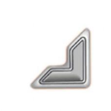 Уголки для фото самоклеющиеся бумажные, серебро (3L-PC 1627)