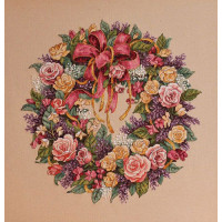 Набор для вышивания крестом Dimensions Венок из роз (03837)