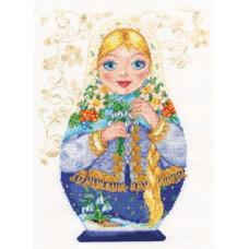 Набор для вышивания крестом Алиса Матрешки. Весна-красна (6-04)