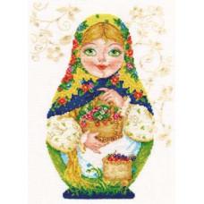 Набор для вышивания крестом Алиса Матрешки. Летняя краса (6-05)