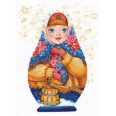 Набор для вышивания крестом Алиса Матрешки. Зимняя краса (6-07)