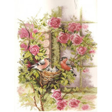 Счастливое семейство - Nesting Birds in Rambler Rose(PN8020)