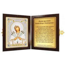 Икона (православный складень) Богородица «Семистрельная» (СМ7007)