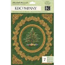 Объёмные наклейки Рождество (K642867)