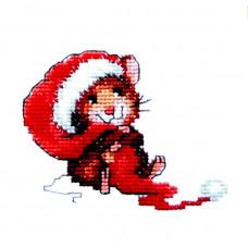 Набор для вышивания крестиком Чарівна мить Мышка-Санта (444)
