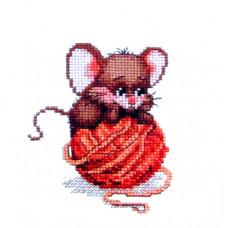 Набор для вышивания крестиком Чарівна мить Мышка на клубочке (446)