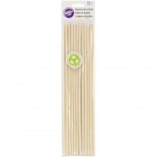 Палочки-дюбеля бамбуковые для кондитерских изделий, 12 шт (W3991010)
