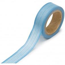 Лента бумажная самоклеющаяся Горизонтальные полосы голубые (WT12 17117)