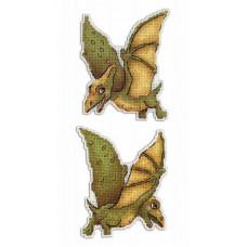 Набор для вышивания крестом М.П.Cтудия Динозавры. Птеродактиль (Р-300)