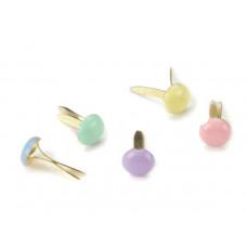 Брадсы круглые разноцветные Пастель, 100 шт.(CI90192)