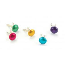 Брадсы круглые разноцветные Сreative Impressions Металлик, 100 шт. (CI90193)