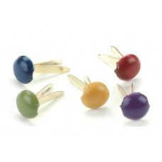 Брадсы круглые разноцветные Матовые, 100 шт.(CI90191)