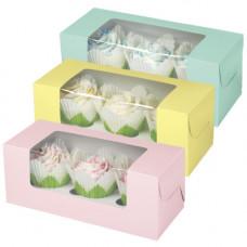 Набор коробочек для кексов с окошком Пастельные цвета, 3 шт (W4150955)